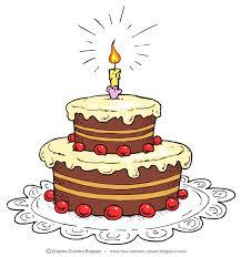 cartoon birthday cake clipart