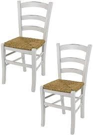 tommychairs 2er set stühle venezia für küche und esszimmer robuste struktur aus lackiertem buchenholz im shabby chic stil handwerklich antik