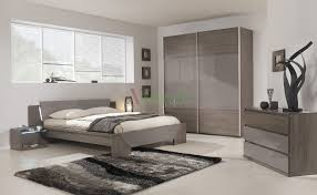 Modern Bed Gami Trapeze Bed Set Modern Bedroom Set by Gautier