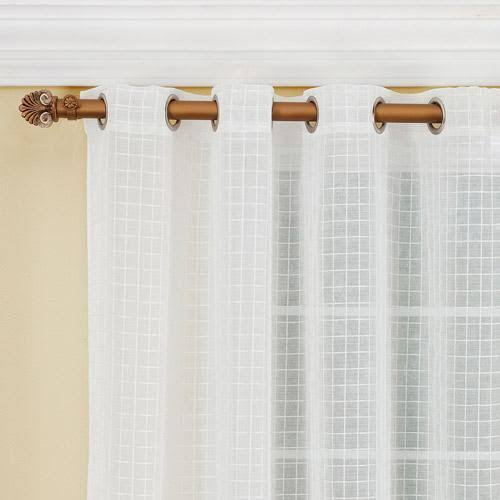 Montauk Grommet Sheer Curtain Panel White