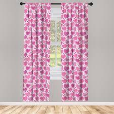 abakuhaus valentines vorhänge rosa romantische motive fensterbehandlungen 2 panel set für wohnzimmer schlafzimmer nachbildung 150 cm x 245 cm pink