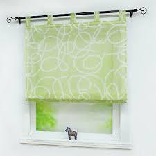 raffrollo mit schlaufen raffgardinen wohnzimmer gardinen