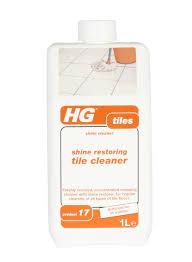 hg shine restoring tile cleaner 1 litre floor cleaning