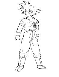 Free Printable Dragon Ball Z Coloring Pages For Kids Inside Goku