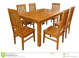 Dining Table And Chairs Isolated Stock Image - Image Of ...