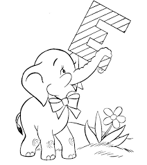 More Images Of Cute Elephant Coloring Pages