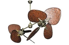 twin star ii antique brass tropical dual ceiling fan with 46 dark