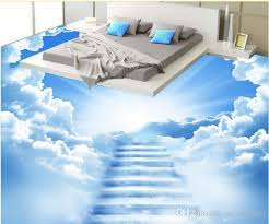 Custom 3d Floor Murals Clouds Of For Living Room Bedroom Pvc Flooring Waterproof Wallpaper Mobile On Desk From Yeyueman