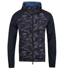 Camo Deck Fasteners Nz by Armani Jeans Blue Camo Hooded Reversible Jacket