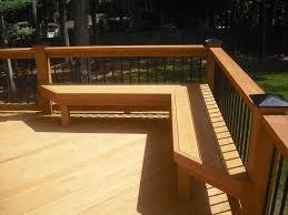built in deck bench seating decks u0026 outdoors pinterest deck