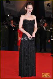 2013 winona ryder black lace celebrity dress strapless column