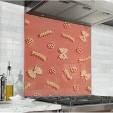 fond de cuisine acheter fond de hotte motif pâtes crédence de cuisine verre de