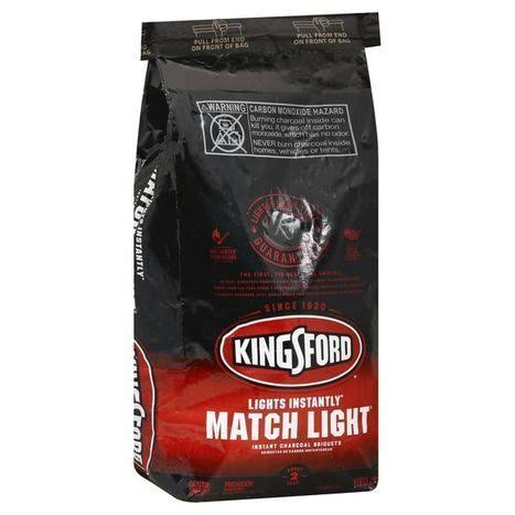 Kingsford Charcoal Briquets, Instant, Match Light - 8 lb