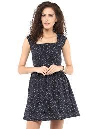 roving mode women u0027s polka dot sqaure neck mini dress black
