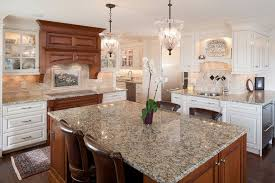 santa cecilia light granite for a traditional kitchen with a