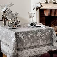 nappe de table coton de noël gris anthracite nappe l hiver carrée
