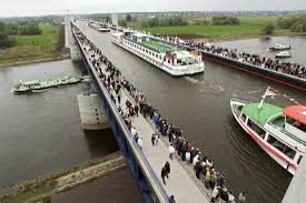 100 Magdeburg Water Bridge The The Longest Navigable By Ship Aqueduct