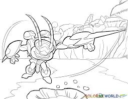 Skylanders Swarm Coloring Page Free Color Download
