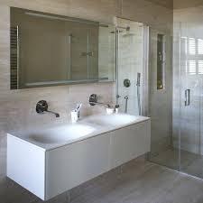 Modern Bathroom Tiling Sleek Modern Shower Room With Twin Basins