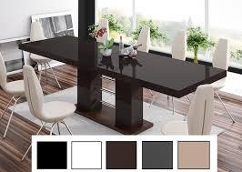 design esstisch tisch he 111 braun nussbaum hochglanz ausziehbar 160 bis 260 cm