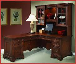 Office Depot Desk Lamps by Furniture Wooden L Shaped Desk With Hutch And Drawer With Peru