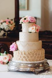 Beautiful Beige 4 Tier Buttercream Wedding Cake Weddingcake