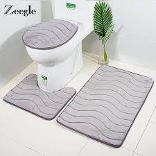 3d geprägte badezimmer bad matte set wc teppich teppich flanell nicht slip wc teppich badezimmer dusche zimmer teppich boden matten