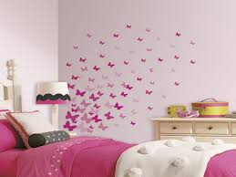 Bedroom Girls Decor Awesome 75 New Pink Flutter Butterflies Wall Decals