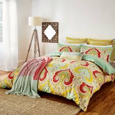 echo jaipur paisley print bedding at bedeck 1951
