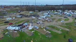 Tornado Destruction At Sunnyvale RV Trailer Park