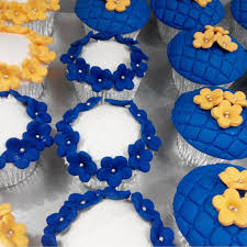 Wedding Cupcakes When Royal Blue Meets Orange They Make