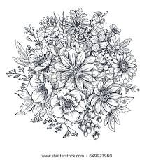 Flower Bouquets Drawings Flower Bouquet Stock Royalty Free Vectors