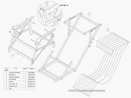 Free Wood Folding Table Plans by Wood Folding Chair Plans Plan Subassembly List Inside Inspiration