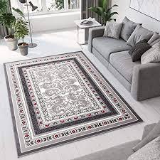 tapiso designer teppich wohnzimmer teppich schön muster in rot grau hellgrau 300x400 cm