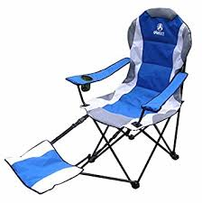 amazon com gigatent cing chair with footrest blue lawn