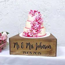 Wedding Cake Stand Rustic Wooden Personalised Table Decoration Handmade Crate