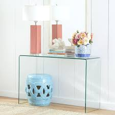 Console Desk Table Waterfall Furniture Living Room Consoles