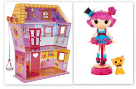 Lalaloopsy Bed Set by Lalaloopsy Sew Magical House Plus A Free Silly Hair Star Doll