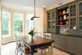 Built In China Cabinet Kitchen Breakfast Table Designs Dining Room Traditional With