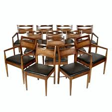 american of martinsville walnut and cane dining chairs set of 12