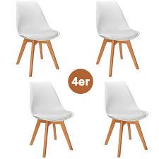 4er set esszimmerstühle küchenstühle mit beinen aus massiv holz wohnzimmerstuhl