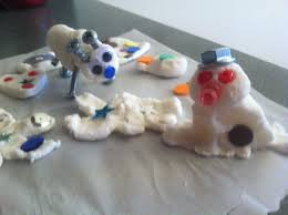 Easy Winter Craft For Kids Cornstarch Clay Sculptures