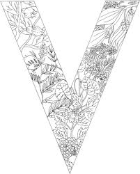 Click To See Printable Version Of Letter V With Plants Coloring Page