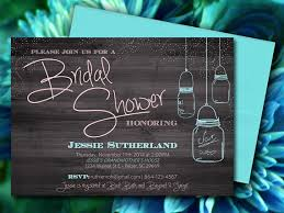 Mason Jar Wood Bridal Shower Invitation Rustic Wedding Microsoft Word Template