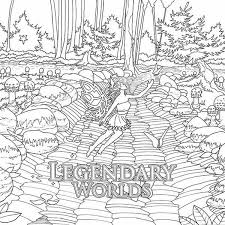 Legendary Worlds Adult Coloring Book Colorworth