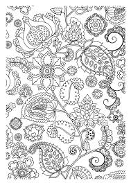 Coloring Adult Flowers Zen From The Gallery And Vegetation