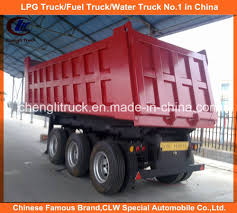 100 Tri Axle Dump Trucks China Heavy Duty 40ton End Tipper Truck Trailer