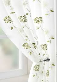 Sheer Voile Curtains Uk by Sheer Voile Panel Green Cream Dianthus Flower Net Sheer Curtain