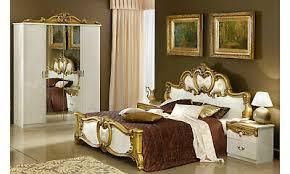 doppelbett barock schlafzimmer bettgestell klassisch beige