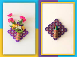Picture Of DIY 2 In 1 Flower Vase Pen Stand Recycled Craft With